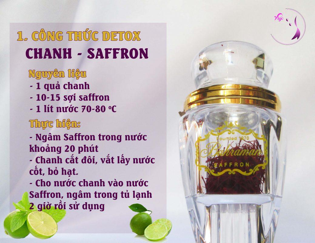 Detox chanh dây cùng Nhụy hoa nghệ tây - Saffron Đà Nẵng - Nhụy hoa nghệ tây Đà Nẵng
