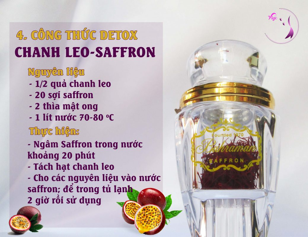 Detox chanh leo và saffron