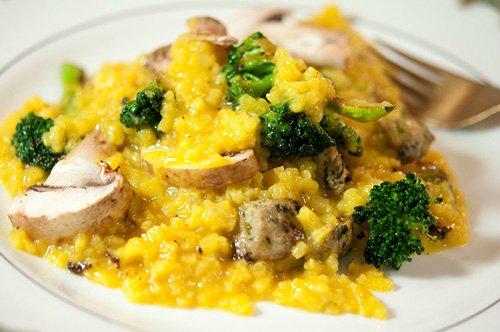 Cơm Risotto Italia sử dụng gia vị saffron