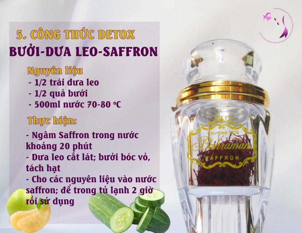 Detox cùng những nguyên liệu dễ tìm: Bưởi - Dưa leo - Saffron