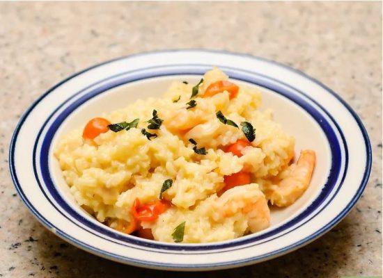 Món cơm risotto hải sản