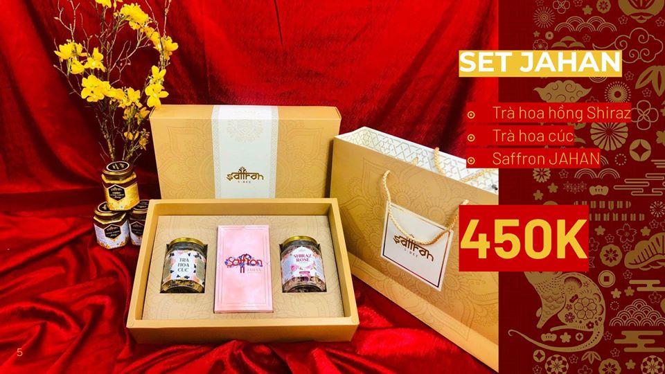 Quà tết doanh nghiệp ý nghĩa gồm saffron, trà hoa hồng, trà hoa cúc