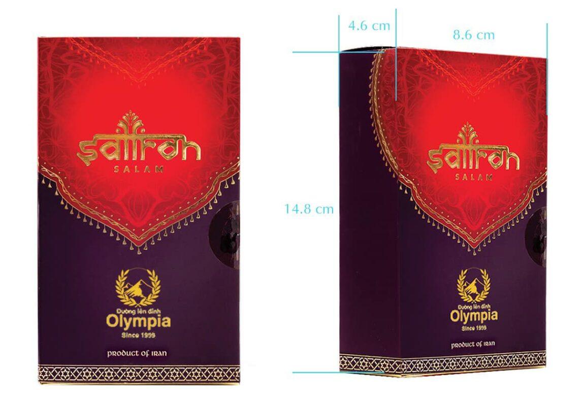 Thiết kế hộp quà tặng saffron Salam cao cấp trong chương trình Đường lên đỉnh Olympia 20 năm