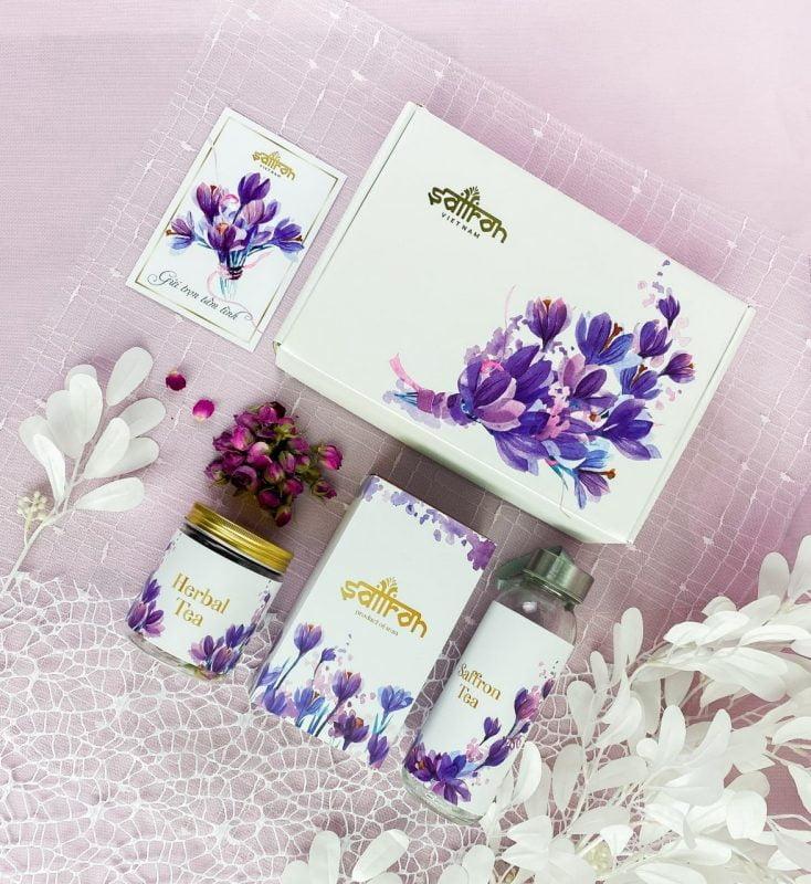 Set quà tặng saffron Jahan và trà hoa chỉ có giá 399k