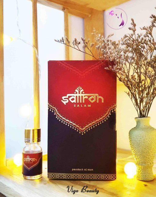 Bột saffron đã được xay và đóng lọ sẵn trên thị trường